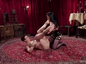 Sizzling hot babes Veruca and Lilith get down and dirty in a hardcore lesbian...