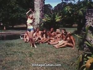 Sexy Topless Women Meet Strange Men (1960s Vintage)