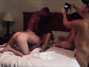 Cheating Wife Enjoying her 1st GangBang