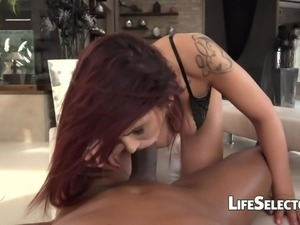 Busty redhead Amina Danger is ready to get fucked in her tight ass. Let her...