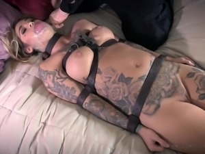 intruder ties her up on the bed