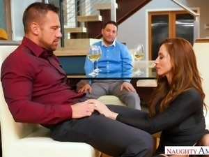 She doesn't really care about how her husband might feel, as she flirts with...