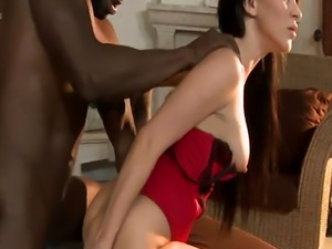 Gaping beauty anally pounded and jizzed on
