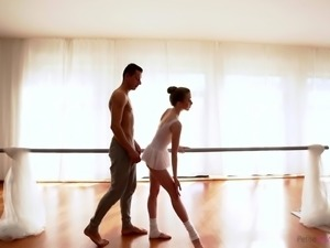 Beautiful ballerina Jessi's practice session is interrupted, when Nick enters...