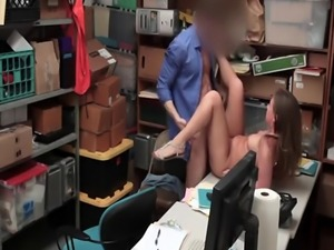 Brooke Bliss gets stripped and fucked hard on some guy's desk