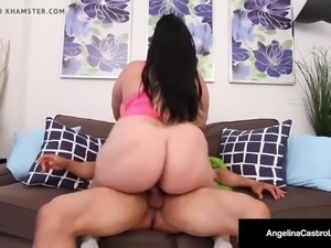 Angelina Castro's Cuban Mouth Is All Over Puerto Rock's Cock