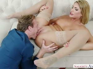 All natural stunner August Ames fearlessly fucks whenever the mood strikes