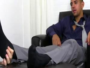 Gay foot fetish comics Jake Torres Gets Foot Worshiped & Loves It