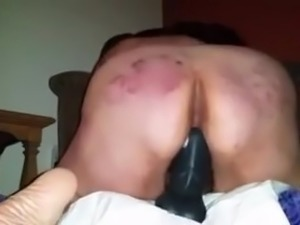 Bbw riding dildo
