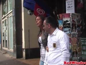 Nubian lingeried hooker blows tourist cock