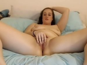 Naked and orgasm -  sensitive clit masturbation