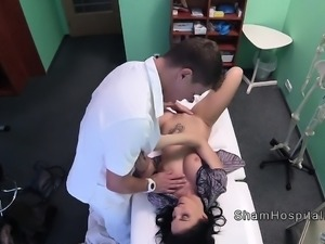 Blue eyed beauty bangs doctors cock
