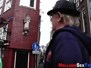 Dutch whore gets cumshot