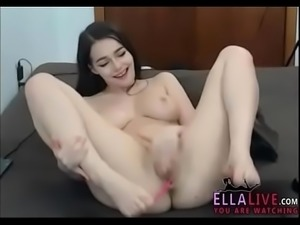 Beautiful brunette masturbation - EllaLive.com