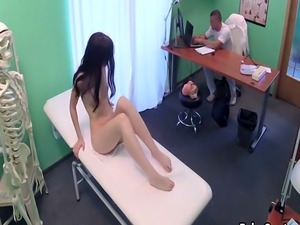 Sexy doctor fucks fresh wet pussy
