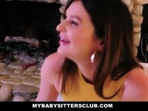 MyBabysittersClub- Sexy Teen Babysitter Fucks Hot Boss