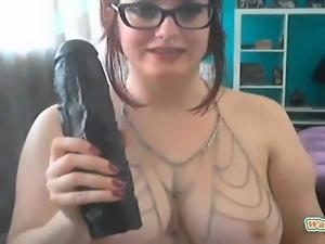 Chubby redhead on webcam