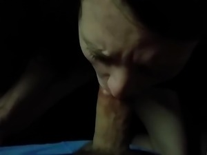 girlfriend sucks huge cock