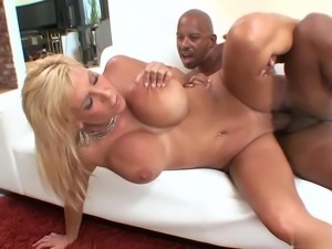 Busty milf Misty Vonage fucks with young black cock