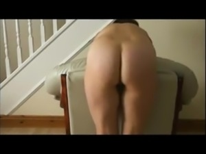 Bent over a chair and whipped.