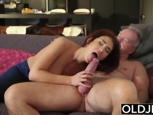 Natural Young Teenie Doggystyle and Deepthroat Blowjob