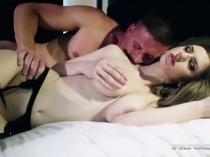 Yummy fair haired MILF in sexy stockings Stella Cox gets her kitty nailed in...