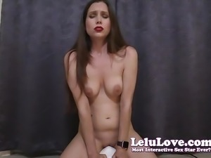 Lelu Love-2 Sybian Orgasms Wearing Only Makeup And Lipstick
