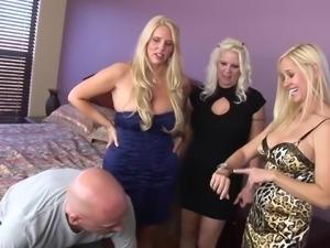 Platinum Blond Trio of Cougars