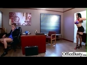 (Sybil Stallone) Big Tits Horny Office Girl Get Nailed Hardcore vid-29