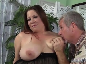 Chubby MILF Rubee fucked and eats cum