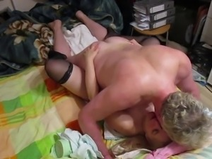 Russia is a big tit blonde milf passionate missionary fuck