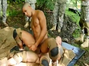 Black military ebony movie gay Jungle poke fest