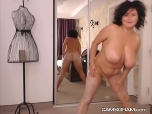 Magnificent Gigantic-Titted Curvy Is Being Very Naughty Alone