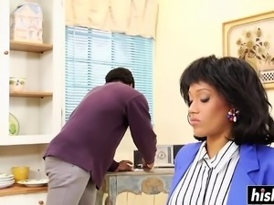 Misty Stone gets boned by her man