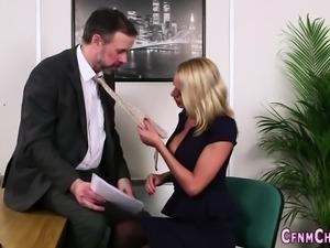 Cfnm dominas tease cock
